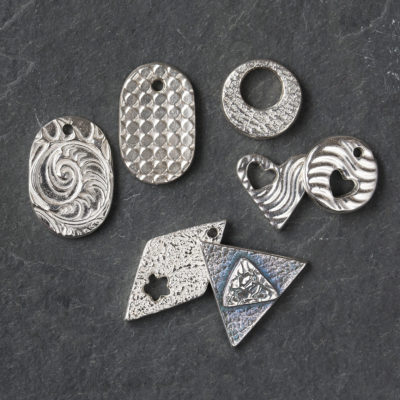 silver clay taster class samples by Hamilton Jewellery