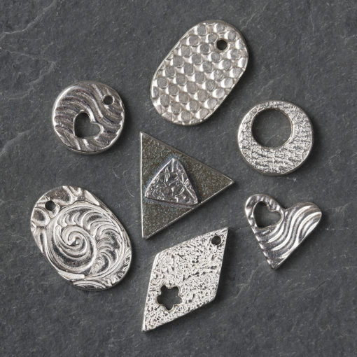 silver clay taster class pieces by Hamilton Jewellery