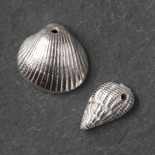 Silver clay shells by Hamilton Jewellery, moulding class
