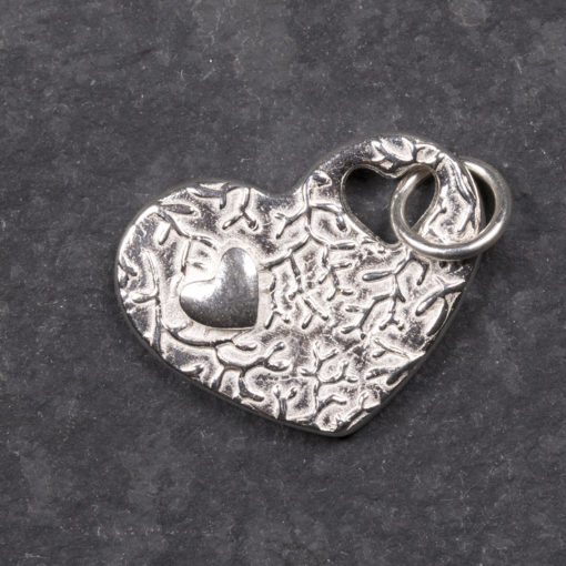 Silver clay taster class jewellery by Hamilton Jewellery, heart pendant