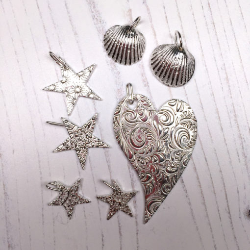 A students work from a silver clay class by Hamilton Jewellery