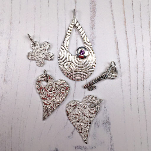 Students work in silver clay from a class by Hamilton Jewellery